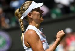 Wimbledonda ilk finalist Kerber