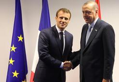 Son dakika... Erdoğan ve Macron buluştu