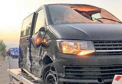 TIR'dan kopan lastik minibüste öldürdü