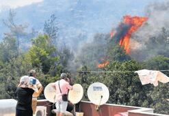 Bodrum'da yangın korkuttu