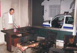 Dikili'de BDP binası yakıldı