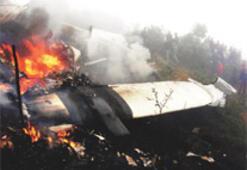 Düşen uçakta pilot dışında herkes öldü