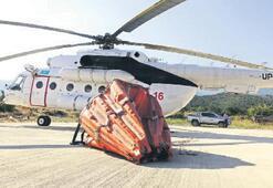 Yangınlara karşı helikopterli önlem