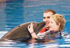 Yunuslardan hayat öpücüğü
