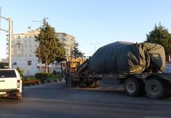 Obüs, tank, ZPT... Hepsi Münbiç ile Tel Rıfat sınırına sevk edildi