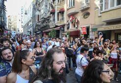 İstanbulda izinsiz gösteriye polis müdahalesi