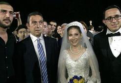 Ali Koç nikaha katıldı, meşale yaktı