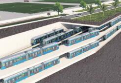 Metro vagonlarına yeraltı otoparkı