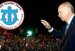 İMEAK Deniz Ticaret Odasından Cumhurbaşkanı Erdoğana tebrik