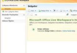 Microsoft Office Live Workspace artık Türkçe
