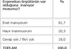 Türkiye, Ergenekonun varlığına inanıyor
