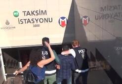 Taksim Metrosunda tacizcisine tokat attı