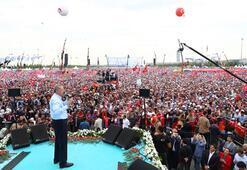 Son dakika… Cumhurbaşkanı Erdoğan Yenikapıdan İstanbullulara seslendi: En baba mitingimiz...