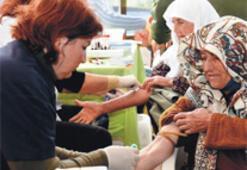 Bir ayda 55 köyde sağlık taraması
