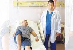 Kök hücre tedavisi bacağını kurtardı