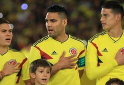 Kolombiyanın kozu Rodriguez ve Falcao