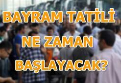 Ramazan Bayramı ne zaman Bayram tatili kaç gün olacak (2018)