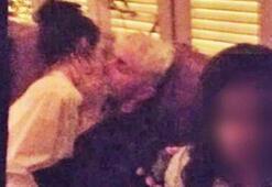 Kendall Jenner dudak dudağa yakalandı