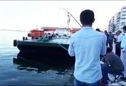 Yer: İzmir Oltaya takıldı gören ne yapacağını şaşırdı
