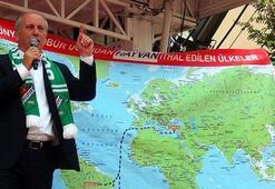 Muharrem İnce Karsta konuştu Dünya haritasının önüne geçti ve...