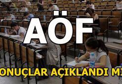 AÖF sonuçları açıklandı mı (26-27 Mayıs AÖF final sınavları)