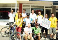 Termik santrala pedallı protesto
