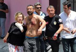 Son dakika haber: Sokakta elindeki bıçakla dehşet saçtı