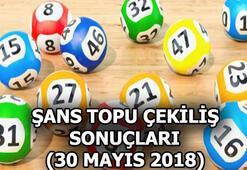 Şans Topu çekilişi sonuçları açıklandı (30 Mayıs 2018)