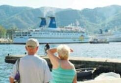 Denizden gelen turist güldürdü