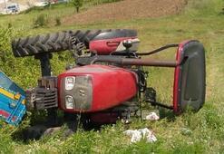 Zonguldakta traktör devrildi: 1 ölü, 2 yaralı
