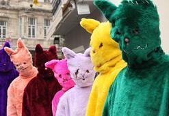 İstiklal Caddesini kediler bastı
