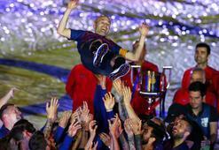 Barcelona, Iniestayı galibiyetle uğurladı