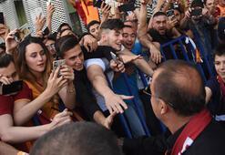 Galatasaraya İzmirde coşkulu karşılama