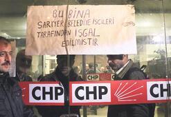 İşçiler CHP'yi bastı