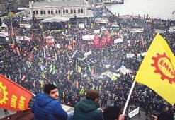 Binler laik eğitim talebiyle yürüdü