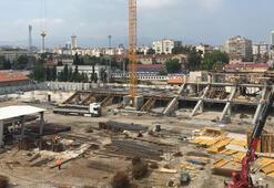 Alsancak Stadında hummalı çalışma