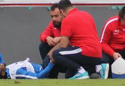 Trabzonsporda sakatlanan Onazi antrenmanı tamamlayamadı