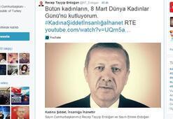 Erdoğanda görüntülü 8 Mart mesajı