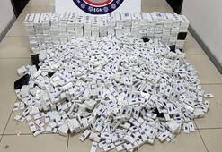 Mersinde 8 bin 480 paket kaçak sigara ele geçirildi