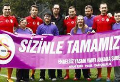 Eski G.Saraylı futbolculardan down sendromlu çocuklara destek