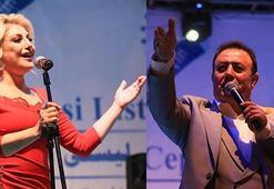 Kerkükte Tuncer ve Ersoydan Türkmenlere konser