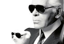 Artık Lagerfeld'in kendisi bir tasarım