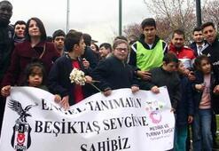 Beşiktaş idmanına özel misafirler