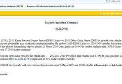 KPSS ve DGS başvuru süresi uzatıldı