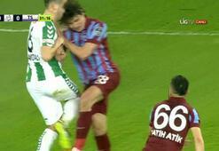 Konya-Trabzon maçında olay