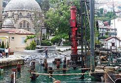 Bebek Camii'nin kıyısına beton dolgu