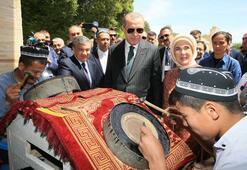 Tarihi Buhara kentine Erdoğan'dan ziyaret