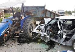İki sürücü de ağır yaralandı