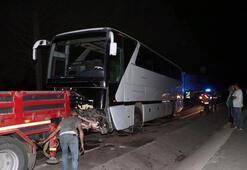İzmir Dikilide tur otobüsüyle çarpışan araçtaki 5 kişilik aile yok oldu