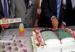Kuran-ı Kerim şeklindeki pastaya soruşturma